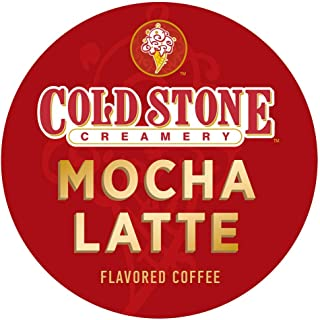 Cold Stone Creamery Single Serve Coffee in Recyclable Cups for all K Cup Brewers, including the Keurig 2.0 Brewer (Mocha Latte, 24)