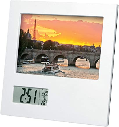 ADESSO(アデッソ) 置き時計 フォトフレームクロック デジタル ホワイト NP-604