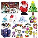2021 Christmas Countdown Adventskalender Figetsss Spielzeug-Sets,Fidget Spielzeug Set,für Zuhause, Schule, Büro, Party, Eltern-Kind-Spiel