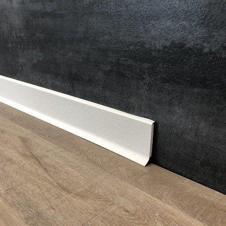 10 Meter Fußleisten | Sockelleisten 60 x 12.8 mm25560-0101 aus PVC Hartschaum mit durchgefärbter Weichlippe| Kunststoff-Leiste Weiß | Weiße Sockelleiste