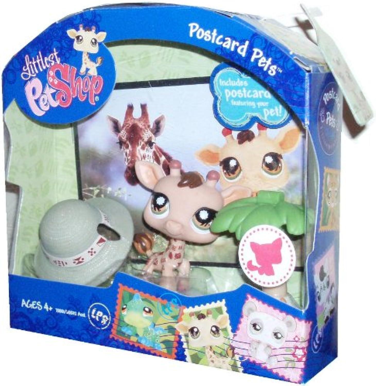 Littlest Pet Shop - Postcard Pets - Giraffe  902 - mit Safari Postkarte & super Zubehr & Sticker - OVP