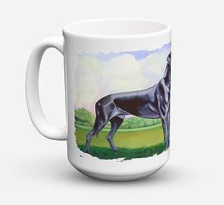 Caroline's Treasures 7245CM15 Great Dane Dishwasher Safe Microwavable Ceramic Coffee Mug, 15 oz, Multicolor