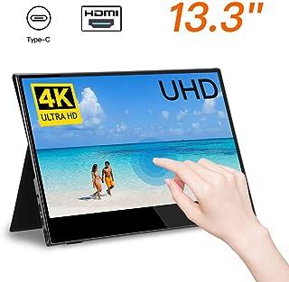 Eyoyo Portable Gaming Monitor 13.3 inch 4k UHD Portable USB C Touch Screen Monitor