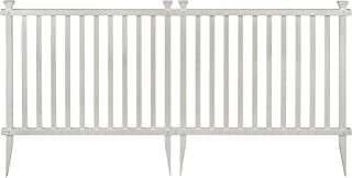 Zippity Outdoor Products ZP19037 Baskenridge Fence, White (Renewed)