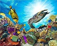 番号によるDiyペイント大人のデジタルデジタル油絵カメと魚粉がリビングルームの寝室を飾る