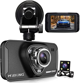 Máy thâu hình đặt trên xe ô tô – 1080P Dual Dash Cam Full HD Front and Rear Camera for Cars, Driving Recorder with IR Sensor, 170 Degree Wide Angle 6G Lens, G-Sensor, WDR, Night Vision, Loop Recording,2.7″ LCD Big Screen