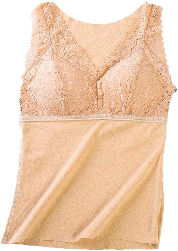 Thermal Underwear Women Ultra-Soft Winter Warm Sexy Lace Tank Top
