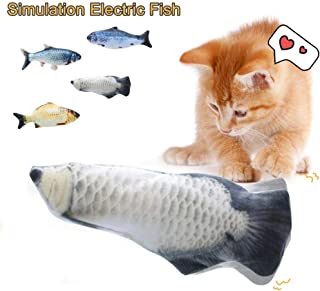 2020 Newest Electric Catnip Toys, UMIWE Realistic Plush Simulation Electric Doll Fish, Wagging Fish Toys, Fish Flop Cat To...