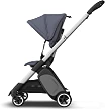Bugaboo Ant Stahlblau, Ultra-kompakter & klappbarer Kinderwagen mit ergonomischem Sitz
