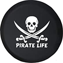 Spare Tire Cover Pirate Life Skull & Swords Saltwater Edition (Fits: Jeep Wrangler Accessories, Camper, RV Accessories) Size 29 Inch