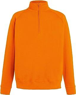 Fruit of The Loom Lightweight Zip Neck Sweatshirt Blank Plain SS927