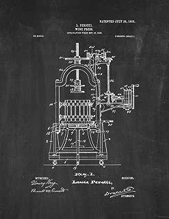 Wine Press Patent Print Chalkboard (5