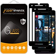 Supershieldz (2 Pack) for Google (Pixel 2) Tempered Glass Screen Protector, (Full Screen Coverage) 0.33mm, Anti Scratch, Bubble Free (Black)