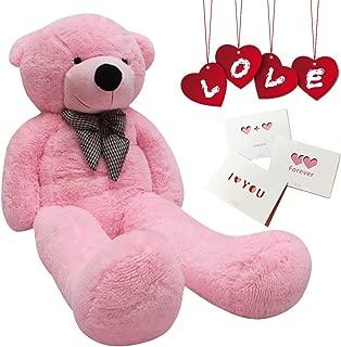 Big Cute Plush Teddy Bear Huge Plush Animals Teddy Bear Girl Children Girlfriend Valentine's Day White (24 inches, Pink)