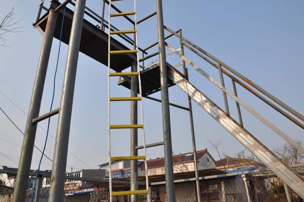 ATG Escalera De Evacuación Escaleras de Emergencia de Resina de Escalera, Rescate para niños y Adultos Escalera de Entrenamiento Reutilizable Adecuado para montañismo, Entrenamiento,10M: Amazon.es: Deportes y aire libre