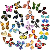 Outee 23 Packs Magic Flying Butterfly Card Surprise Wind Up Butterfly in The Book Rubber Band Powered Magic Fairy Flying Toy Great Surprise Gift