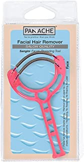 PANACHE Sangini Facial Threading Tool Pink, Double Spring for Quick & Easy Removing Hair on the UpperLip/Chin/Cheek from R...