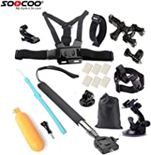 SOOCOO Action Camera Accessories Kit Set for Campark AKASO Crosstour DBPOWER FITFORT EKEN APEMAN ODRVM DROGRACE S100 Pro C30 Underwater Sports Camera Go Pro Hero Swimming Outdoor Sports (2)