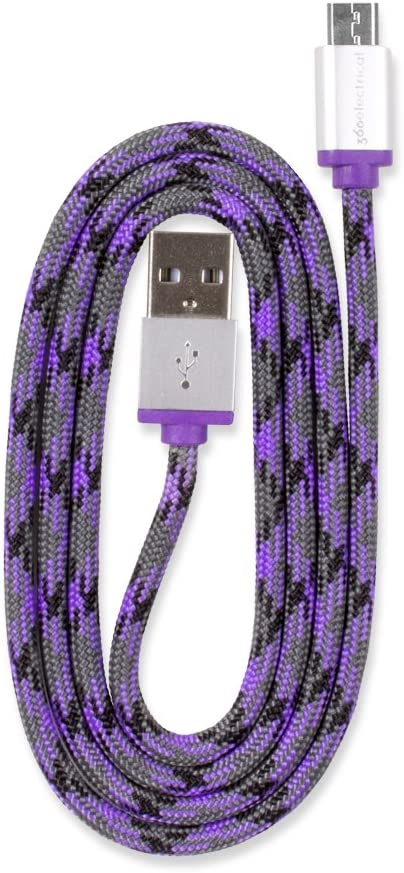 3//0.9m Black 360 Electrical 360401 QuickCharge Braided Micro USB Cable
