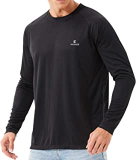 Kepeace Men's UPF 50+ UV Sun Protection Long Sleeve Dri-fit T-Shirts for Outdoor, Running, Fishing, Hiking