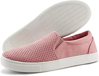 JABASIC Women Breathable Slip On Sneakers Loafers Flat Shoes