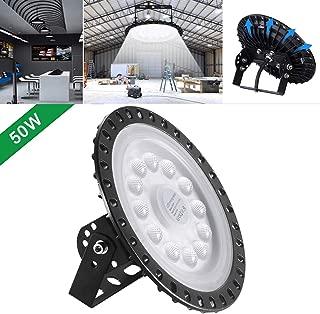 UFO LED Iluminación,techo de cristal 50W 100W 200W 300W 500W Brillante Iluminación Comercial Bahía Luces almacén led Lámpara de techo de cristal (50)