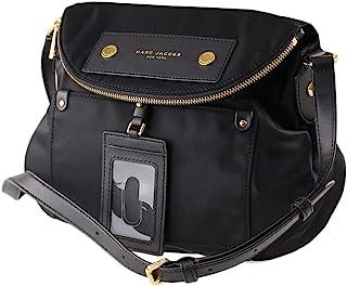 Preppy Natasha Nylon Crossbody Bag, Black, Medium