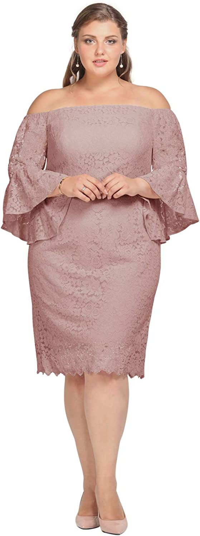 Alicepub Off The Shoulder Lace Wedding Dress Short Cocktail Dresses for Women Party