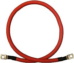 2 AWG 2 Gauge Single Red 3 feet w/5/16 + 3/8