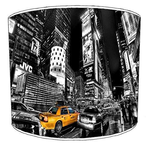 Premier Lighting Ltd 12 inch New York Black et White Yellow Taxi Abat-Jour pour Un plafonnier