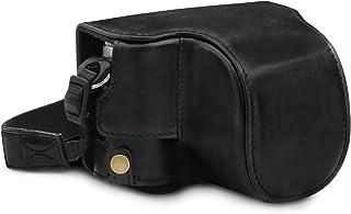 MegaGear MG1605 någonsin färdigt kamerafodral i äkta läder kompatibel med Leica D-Lux 7 – svart