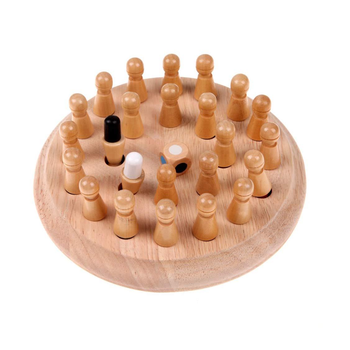 AIYYJ▫bb Madera Ajedrez de Memoria para niños Color Educativo Habilidad cognitiva Juguete para niños Aprendizaje Juego de Rompecabezas Rompecabezas 3D Juego de Mesa Regalo para niños: Amazon.es: Hogar