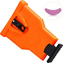 Oak Leaf Chainsaw Sharpener, Portable Teeth Chainsaw Sharpener Chain Saw Blade Sharpener with a Sharpening Stone, Orange (Only Fit Chainsaw Bar with 2 Holes)