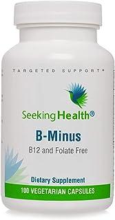 Seeking Health B Minus – Vitamin B Complex – Biotin Vegetarian Capsules – Biotin Supplement for Women – Supports Metabolic...