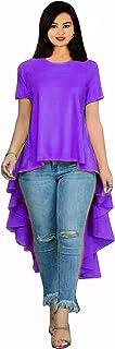 Lakkar Haveli Women's Cotton Long Dress Purple Color Traditional Fashion Tunic Frock Suit