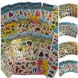 fat-catz-copy-catz 25 Petites Feuilles de Stickers pour Enfants pour Artisanat, Scrapbooks, Création de Carte, Sacs Surprise: Insectes; Voitures; Camion, Mode, Ours Mignons, Lapins, etc