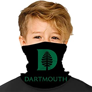 Dartmouth-College Kids Face Scarf Balaclava Breathable Face Mask Bandanas Mouth Dustproof Cover