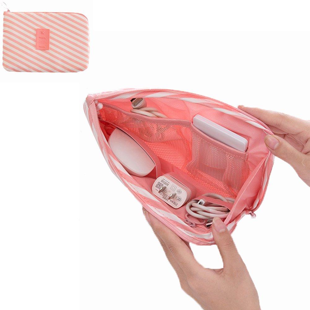 便携式化妆包 / 旅行化妆包 / 刷袋 / 电子用品配件手提包 USB / 移动硬盘连接线手提箱数码智能手机充电器便携袋 Size:23x3x15cm