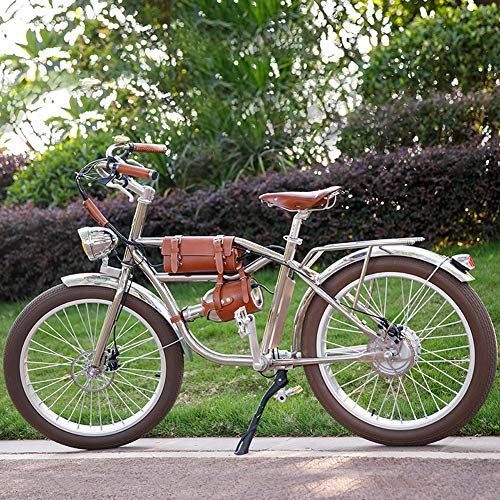 MROSW Elektrisches Fahrrad 500W Elektro-Fat Fahrrad Strand Retro Bike Cruiser Elektro-Fahrrad Retro Elektrischer Fahrrad-Klassiker Weinlese-Elektrische