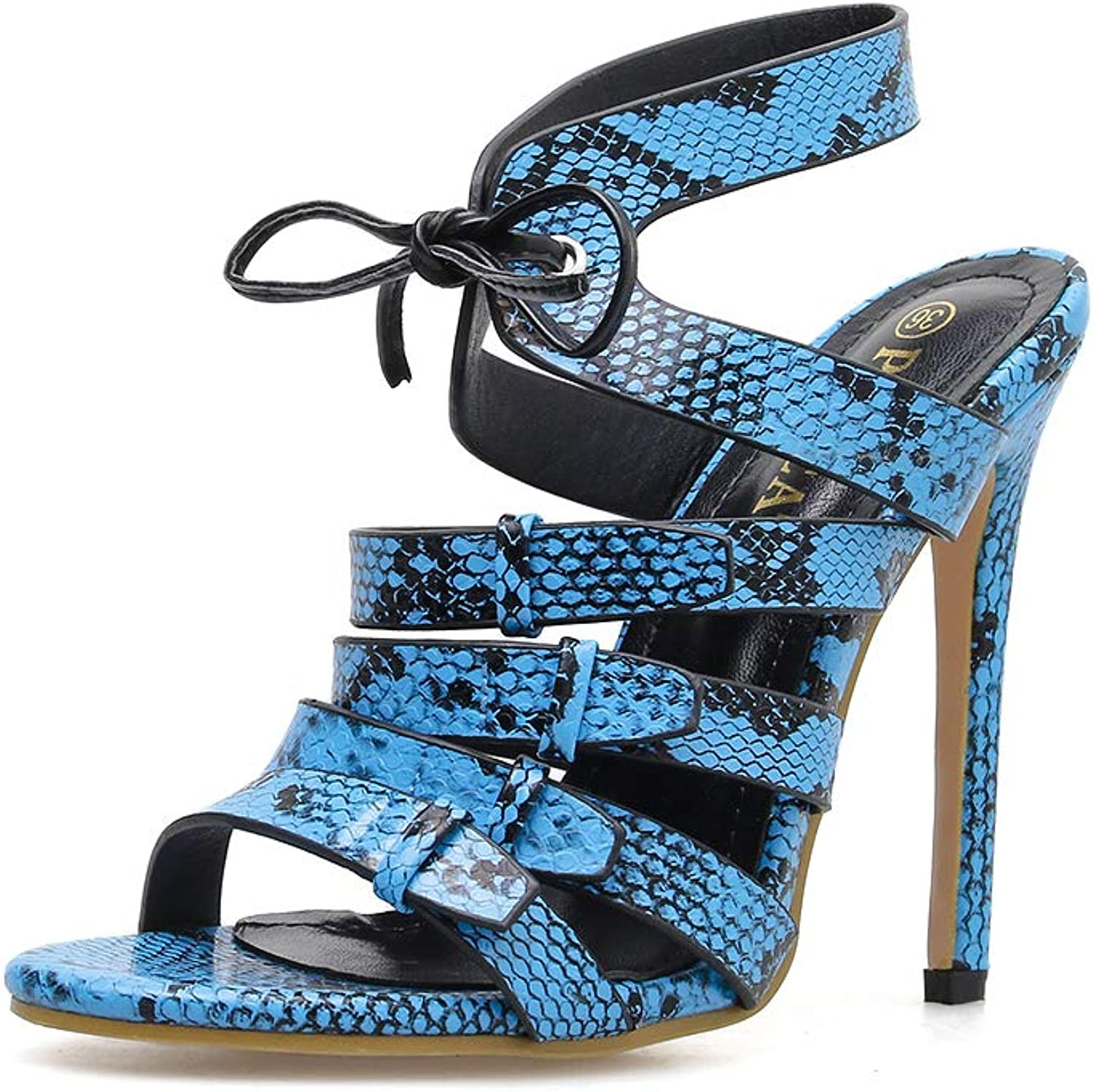 Women's Sandals - Lace-up Serpentine Sexy Open Toe shoes