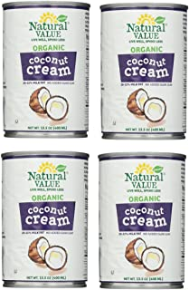 Natural Value Organic Coconut Cream, 13.5 Ounce (pack of 4)