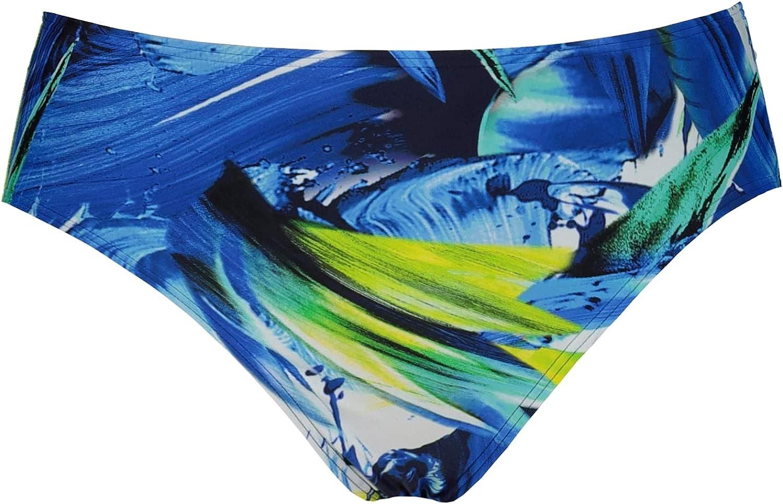 Ulla Popken Womenswear Plus Size Curvy Oversize Watercolor Print Bikini Bottom 747863