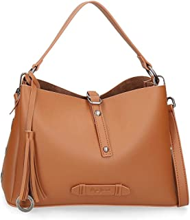 Pepe Jeans Angelica Sac Marron 32x21x13 cms Cuir synthétique