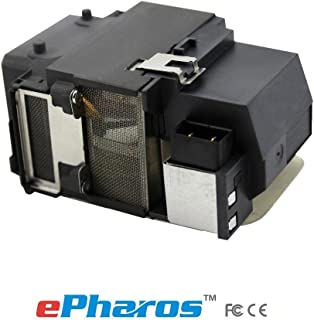 ePharos ELPLP65 replacement projector lamp compatible bulb with generic housing for Epson EB-S02 EB-S11 EB-S12 EB-1750 EB-1751 EB-1760W EB-1761W EB-1770W EB-17771W EB-1775W EB-1776W PowerLite 1750