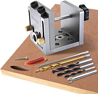 Pocket Hole Jig Adjustable Dowel Jig with Accessories
