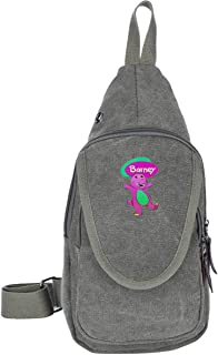 Purple Love Barney Fashion Chest Bags Chest Sling Shoulder Backpacks Bags Stylish Crossbody Triangle Pack Rucksack Multipurpose Daypacks For Adults Or Young