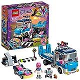 LEGO Friends - Camión de Asistencia y Mantenimiento, Juguete con Mini Muñeca y Kart de Carreras para Recrear Aventuras para Niñas y Niños de 6 a 12 Años, Incluye Figura de Robot y Hámster (41348)