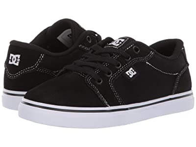 DC Kids Anvil (Little Kid/Big Kid) (White/Black/Black) Boys Shoes