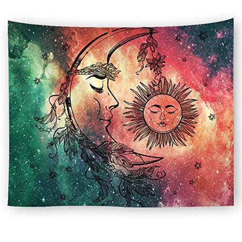 PPOU Mandala Starry Sky Tapiz Geométrico Manta para Colgar en la Pared Estera de Picnic Mantel Cama Funda de sofá Decoración del hogar Tapiz Pared A7 130x150cm