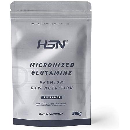 Glutamina Micronizada de HSN | Kyowa como Materia Prima | 100% Pura | Suplemento para favorecer el Crecimiento y Recuperación Muscular | Vegano, Sin ...